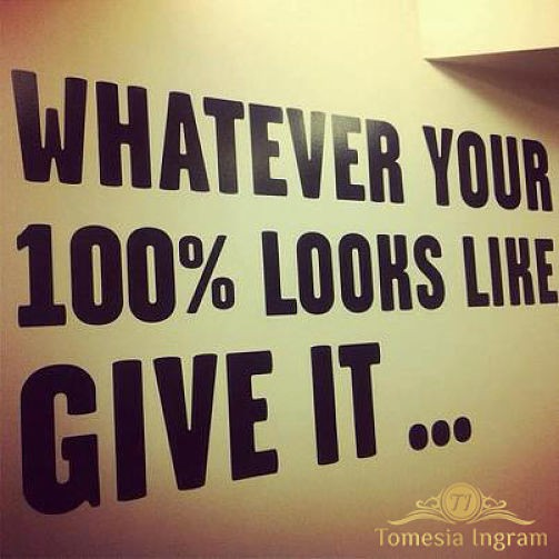 We have a fresh start to a new week. Let's make the commitment to do whatever it takes to make this a successful week. No Excuses!!!